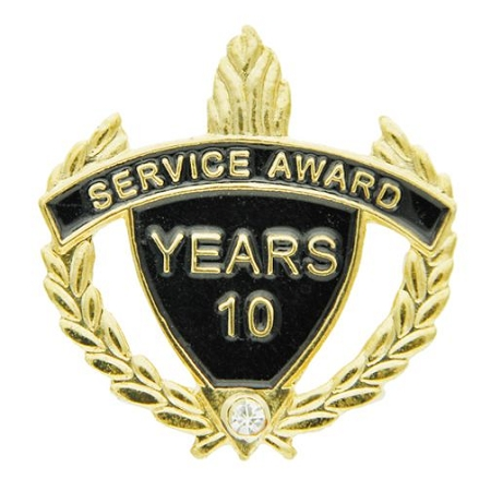 Employee Recognition 10 Years Of Service Award Pins