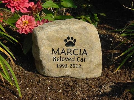 Personalized Cat Paw Print Memorials And Engraved Stone Cat Paw Print Grave Markers