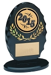 Standing Oval Black and Gold Acrylic Award 6.375