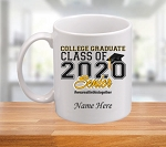 College Graduate Class of 2020 Personalized Coffee Mug