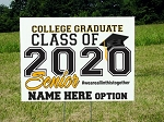Yard Sign 24x18 College Graduate Class of 2020 Senior