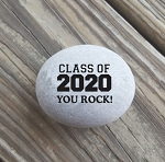 Class of 2020 You Rock Engraved Keepsake Stone 2-3