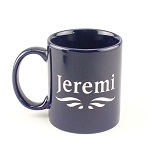 Cobalt Blue Ceramic 11 oz Coffee Mug
