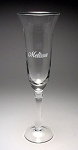 Anna 7 oz Flute Glass Personalized
