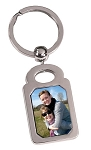 Rectangle Silver Photo Keychain