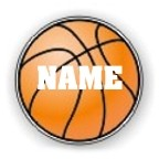 Basketball Round Vehicle Magnet Personalized 5.75 inch