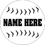 Baseball Round Vehicle Magnet Personalized 5.75 inch