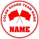 Color Guard Flag Team Round Vehicle Magnet Personalized 5.75 inch