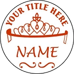 Pageant Tiara Round Vehicle Magnet 5.75 inch