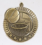 Basketball Five Star Series Medal