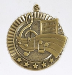 Music Band Chorus Five Star Series Medal