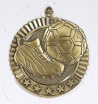 Soccer Five Star Series Medal