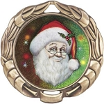 Holiday Christmas Award Medal