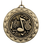 MUSIC BAND Spinning Medal