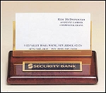 Business Card Holder rosewood with brass accent