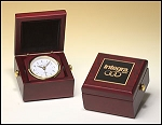 Desk Clock Hand rubbed mahogany finish case