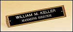 Desk Office Nameplate Walnut