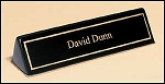 Desk Office Nameplate black piano-finish