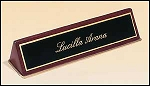 Desk Office Nameplate rosewood piano-finish