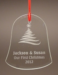 Bell Beveled Glass Holiday Ornament