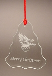 Christmas Tree Beveled Glass Holiday Ornament