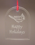Arch Beveled Glass Holiday Ornament