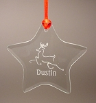 Star Beveled Glass Holiday Ornament
