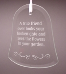 Beveled Glass Bell Ornament Personalized for any Occassion