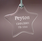 Beveled Glass Star Ornament  Personalized