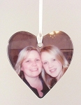 Porcelain Heart Ornament Photo Printed