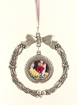 Photo Pewter Wreath Ornament