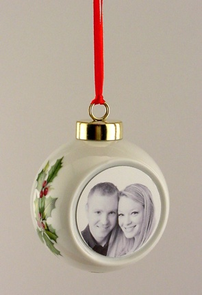 Personalized Photo Ball Christmas Ornament NOEL
