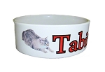 Personalized Ceramic Pet Food Bowl Small Size  printed with your pets photo and name