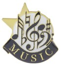 Music Academic Series Lapel Pin