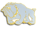 Bulldog Mascot Lapel Pin