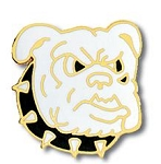 Bulldog Face Mascot Lapel Pin