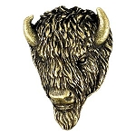 Buffalo Antique Brass Pin