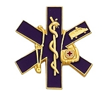 EMS EMT Paramedic Star of Life Lapel Pin