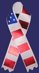 Stars-n-Stripes USA Awareness Satin Ribbon Pin (pack of 4)