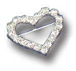 HEART Rhinestone Pageant Sash Pin