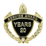 20 Years Service Award Pin