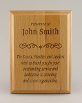 Alder Wood Plaque 5x7 Laser Engraved