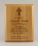 Alder Wood Plaque 7x9 Laser Engraved