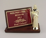 5x7 Billboard Trophy Plaque     Available in Cherry Woodgrain or Black Finish