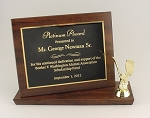8x10 Billboard Trophy Plaque     Available in Cherry Woodgrain or Black Finish