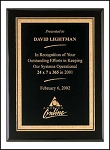 Black Award Plaque  ~  3 sizes