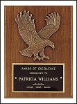 Cast Eagle Plaque 6x8