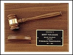 Gavel Recognition Plaque 9x12