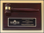 Rosewood Piano Finish Gavel Plaque 9x12