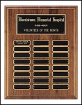 Walnut Perpetual Plaque with 24 name plates